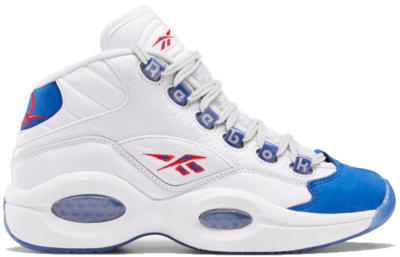 Reebok Question Mid Double Cross (GS) White/Collegiate Royal-Primal Red FV8122