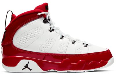 Jordan 9 Retro White Gym Red (PS) White/Black-Gym Red 401811-160