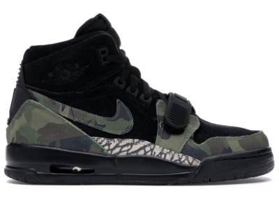 Jordan Legacy 312 Black Camo Green (GS) Black/Camo Green-Volt AT4040-003