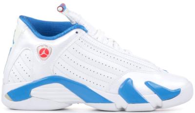 Jordan 14 Retro Neptune Blue (GS) White/Siren Red-Neptune Blue 467798-107