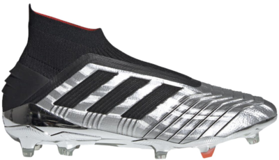 adidas Predator 19+ Firm Ground Cleat Silver Black Red Silver Metallic/Core Black/Hi-Res Red F35611
