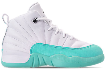Jordan 12 Retro Light Aqua (PS) White/Black-Light Aqua 510816-100