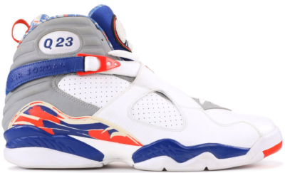 Jordan 8 Retro Quentin Richardson White/Blue Ribbon-Orange Flash 305381-141