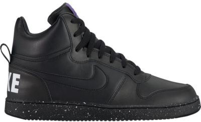 Nike Court Borough Mid Black White Court Purple Black/Black-White-Court Purple 916759-001