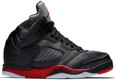 Jordan 5 Retro Satin Bred (PS) Black/University Red 440889-006