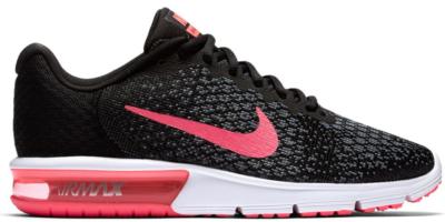 Nike Air Max Sequent 2 Black Vivid Pink (W) Black/Vivid Pink-Wolf Grey-White 852465-006