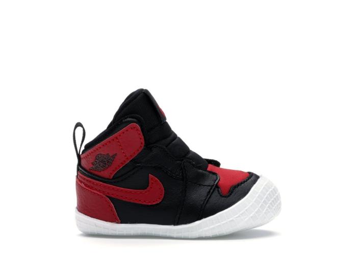 """Air Jordan 1 Crib Bootie """"Black"""" AT3745-023"""