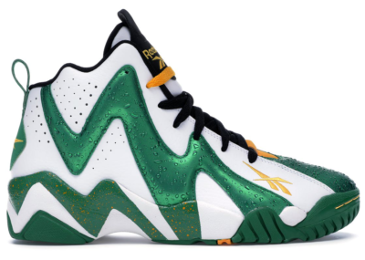 Reebok Kamikaze II Sonics White/Green-Yellow-Black V47579