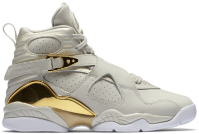 Jordan 8 Retro Champagne (GS) Light Bone/Metallic Gold-White 833378-030