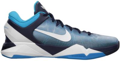 Nike Kobe 7 Shark Obsidian/White-Blue Grey-Current Blue 488371-401