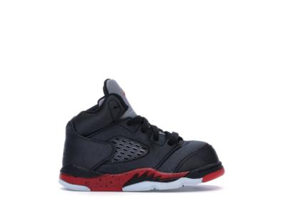 Jordan 5 Retro Satin Bred (TD) Black/University Red 440890-006