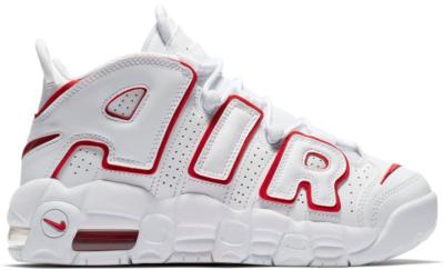 Nike Air More Uptempo White Varsity Red Outline (GS) White/Varsity Red-White 415082-108
