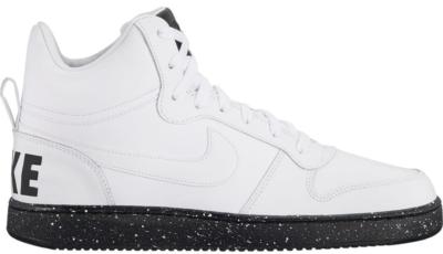 Nike Court Borough Mid White Black Speckled Sole White/White-Black 916759-100