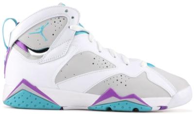 Jordan 7 Retro Neutral Grey Mineral Blue Bright Violet (GS) Neutral Grey/Mineral Blue-Bright Violet-White 442960-001