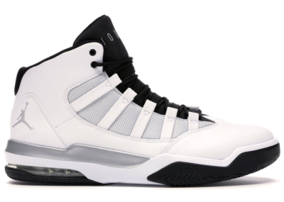 Jordan Max Aura White Metallic Silver Black White/Metallic Silver-Black AQ9084-102