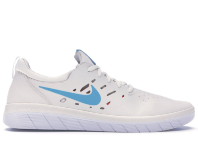Nike SB Nyjah Summit White Light Blue Fury AA4272-101