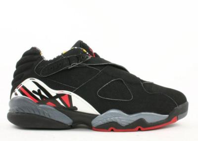 Jordan 8 Retro Low Playoffs (2003) Black/Varsity Red-White 306157-061