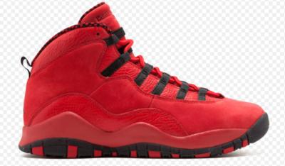 Jordan 10 Retro Steve Wiebe HOH (GS) University Red/Black-University Red-Black-White AJ6883-625