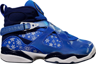 Jordan 8 Retro Snow Blizzard (GS) Cobalt Blaze/Blue Void-White 305368-400