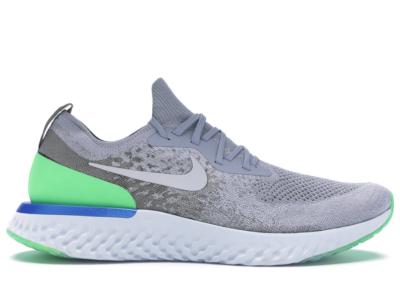 Nike Epic React Flyknit Wolf Grey Lime Blast Wolf Grey/Lime Blast-Dark Stucco AQ0067-008