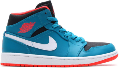 Jordan 1 Mid Tropical Teal Tropical Teal/Infrared 23-Black-White 554724-308