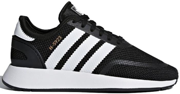 adidas N-5923 Black White (Youth) Core Black/Footwear White/Gold Metallic  AC8544
