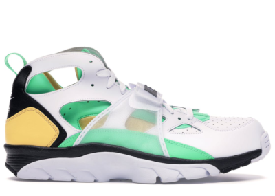 Nike Air Trainer Huarache White Topaz Gold Electro Green 679083-108