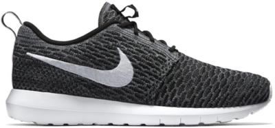 Nike Roshe Run Flyknit Dark Grey Black/White-Dark Grey-Cool Grey 677243-010
