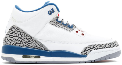 Jordan 3 Retro True Blue 2011 (GS) White/True Blue 398614-104