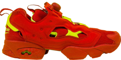 Reebok Instapump Fury Packer Shoes OG Division Red Red/Hyper Green AR3498