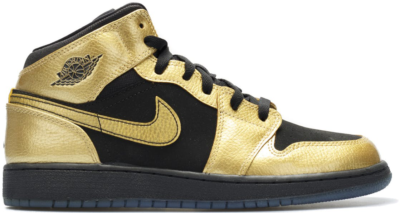 Jordan 1 Mid Metallic Gold Coin Black (GS) Metallic Gold Coin/Black 555112-905