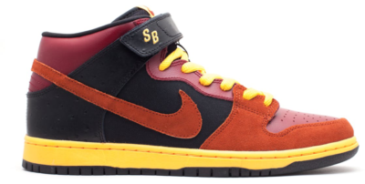 Nike Dunk SB Mid Ostrich Team Red Team Red/Rugged Orange-Black-Laser Orange 314383-680