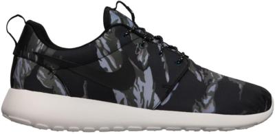 Nike Roshe Run Black Tiger Camo Black/Black-Sail-Mercury Grey 555445-001