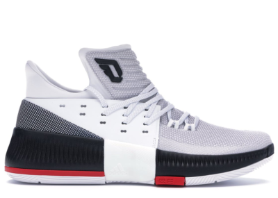 adidas D Lillard 3 Rip City White/Core Black/Scarlet BB8268