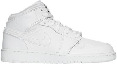 Jordan 1 Retro Mid White 2017 (GS) White/Black-White 554725-110