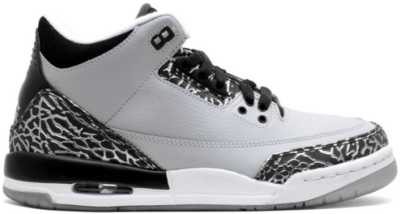 Jordan 3 Retro Wolf Grey (GS) Wolf Grey/Metallic Silver-Black 398614-004