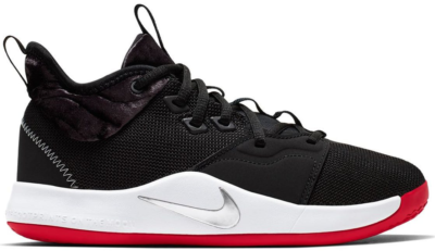 Nike PG 3 Velour Bred (GS) Black/White-University Red AQ2462-016