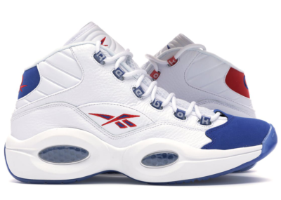 Reebok Question Mid Double Cross White/Collegiate Royal-Primal Red FV7563