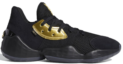 adidas Harden Vol. 4 Core Black Gold Metallic EF8648