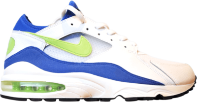 Nike Air Max 93 History of Air (W) White/Laser Lime-Royal Blue 313107-131