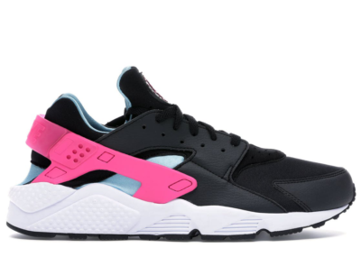 Nike Air Huarache Run Black Laser Fuchsia Blue Gale BV2528-001