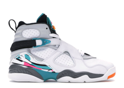 Jordan 8 Retro South Beach (GS) White/White-Turbo Green-Neutral Grey 305368-113