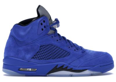 Jordan 5 Retro Blue Suede Game Royal/Black 136027-401