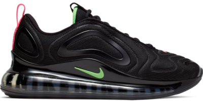 Nike Air Max 720 Big Logos Black Black/Hyper Pink-Scream Green CQ4614-001