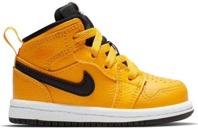 Jordan 1 Mid University Gold Black (TD) University Gold/Black-White-Gym Red 640735-700