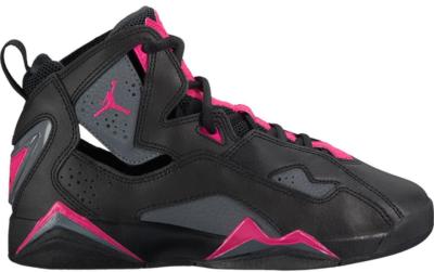 Jordan True Flight Black Dark Grey Deadly Pink (GS) Black/Dark Grey-Deadly Pink 342774-009