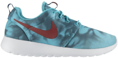 Nike Roshe Run Hyper Jade Print Hyper Jade/Cedar-Space Blue-Hyper Crimson 655206-346