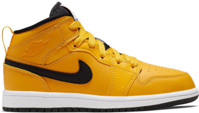 Jordan 1 Mid University Gold Black (PS) University Gold/Black-White-Gym Red 640734-700