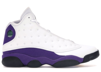 Jordan 13 Retro Lakers (GS) White/Black-Court Purple-University Gold 884129-105