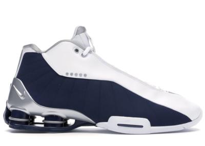 Nike Shox BB4 White Silver Navy AT7843-100